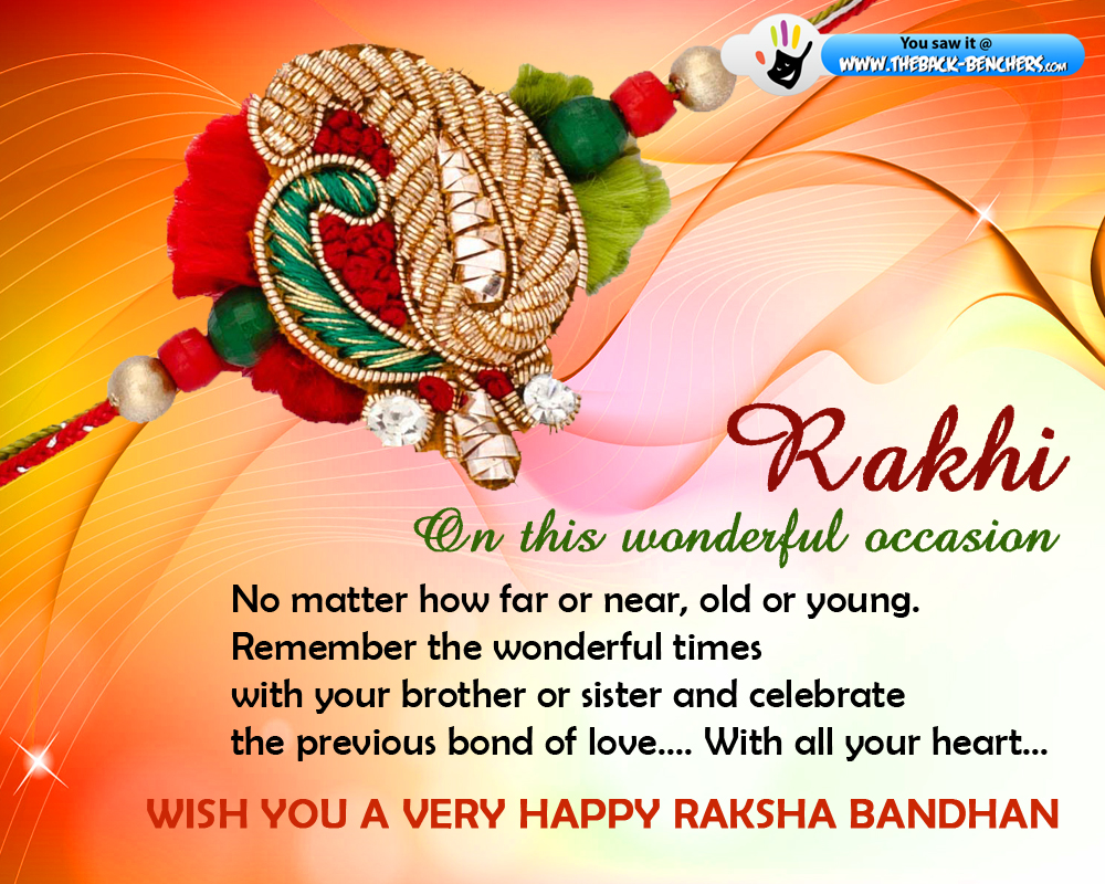 Wish you a very happy raksha bandhan