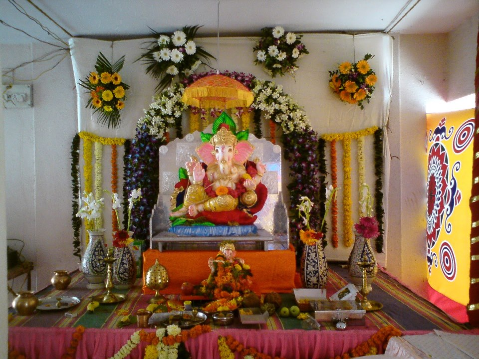 Suggestions for ganesh chaturthi decoration ideas images ganpati Home decoration tips in marathi