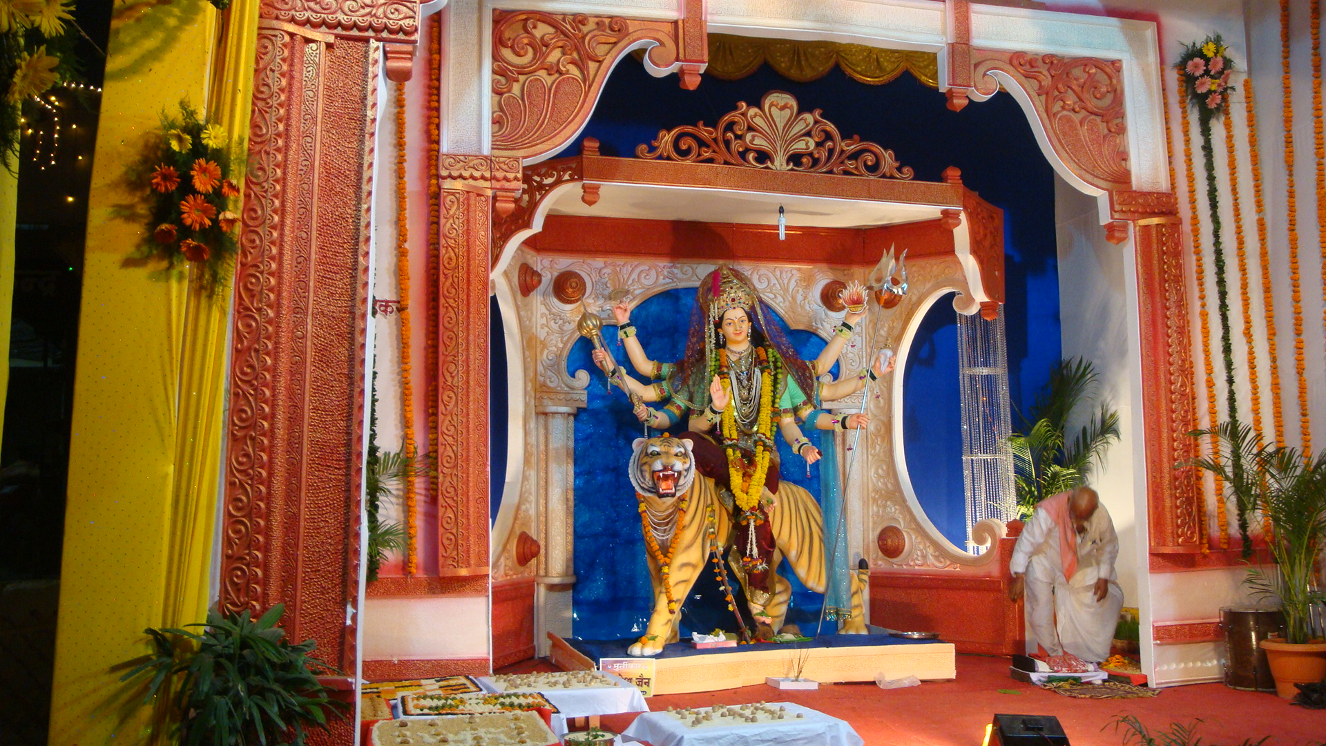 Navratri durga puja navratri decoration navratri for Home decorations 2015