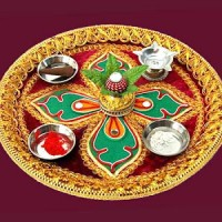 Navratri 2015 Durga Puja – Navratri Decoration | Aarti Thali Decoration Ideas