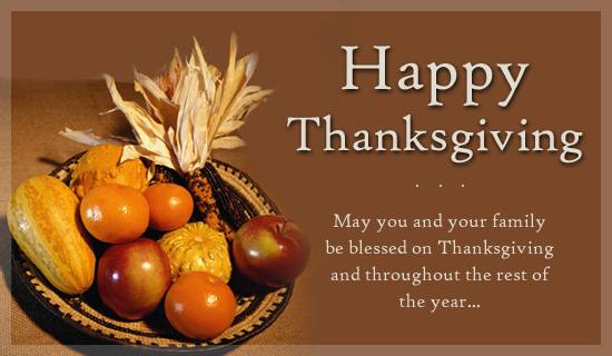 Thanksgiving Day Wishes for Family
