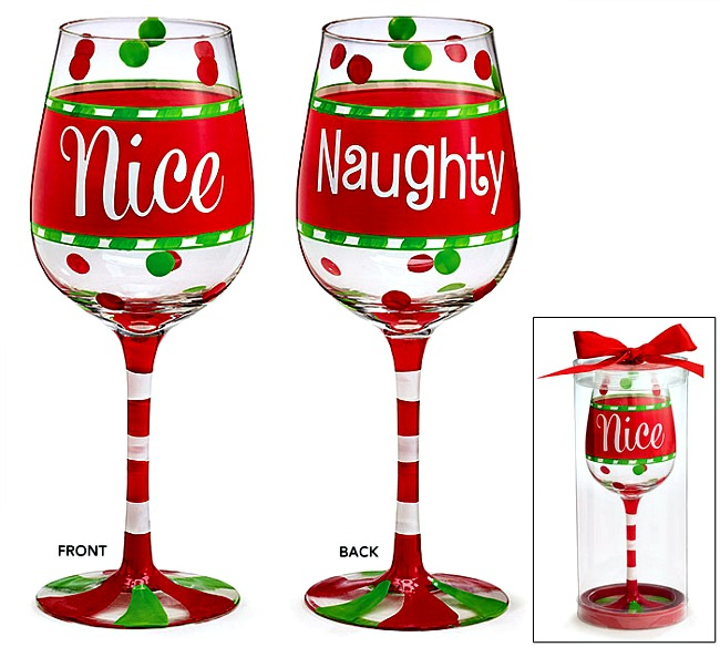 Wine Glasses Christmas